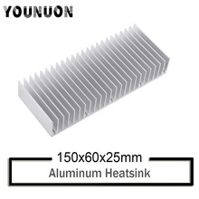 YOUNUON 150x60x25mm radiator Aluminum heatsink Extruded heat sink for LED Electronic dissipation cooling cooler 150*60*25mm