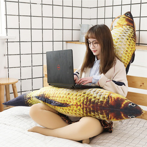 Image 3 - 1pc ファッションシミュレーション鯉ぬいぐるみ魚ぬいぐるみ枕子供クリエイティブソファベッド枕なだめるおもちゃクリスマスギフト