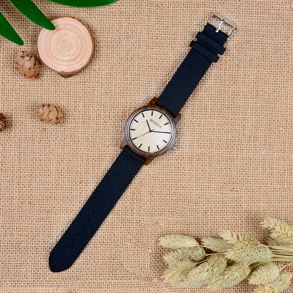BEWELL Bamboo Wood Watch Analog Digital For Men 47