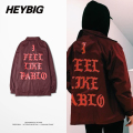 I Feel Like Pablo Season 3 Kanye West Clothing Heybig Light Trench Street Fashion Hip hop Jacket China Size M-XXXL