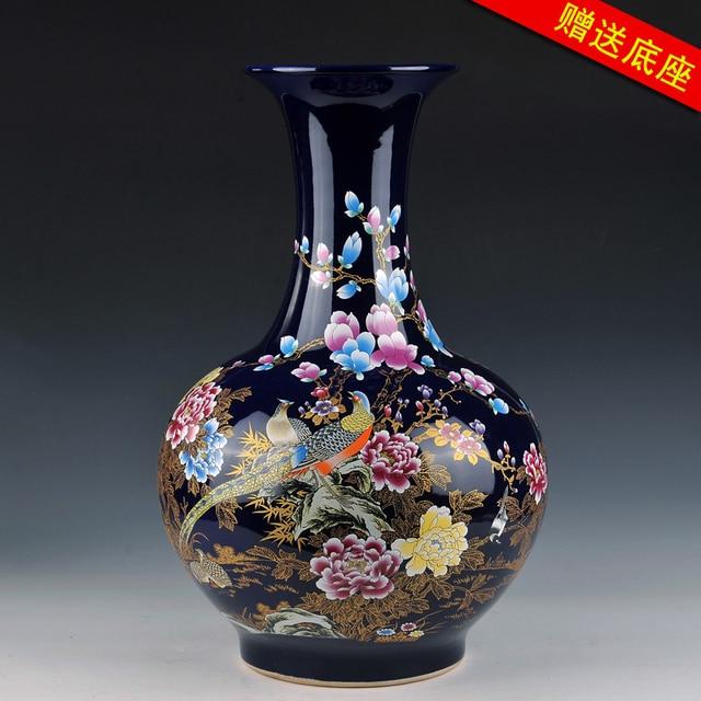 Jingdezhen Landing Grand Vase Vase Peony Large New Chinese Floral