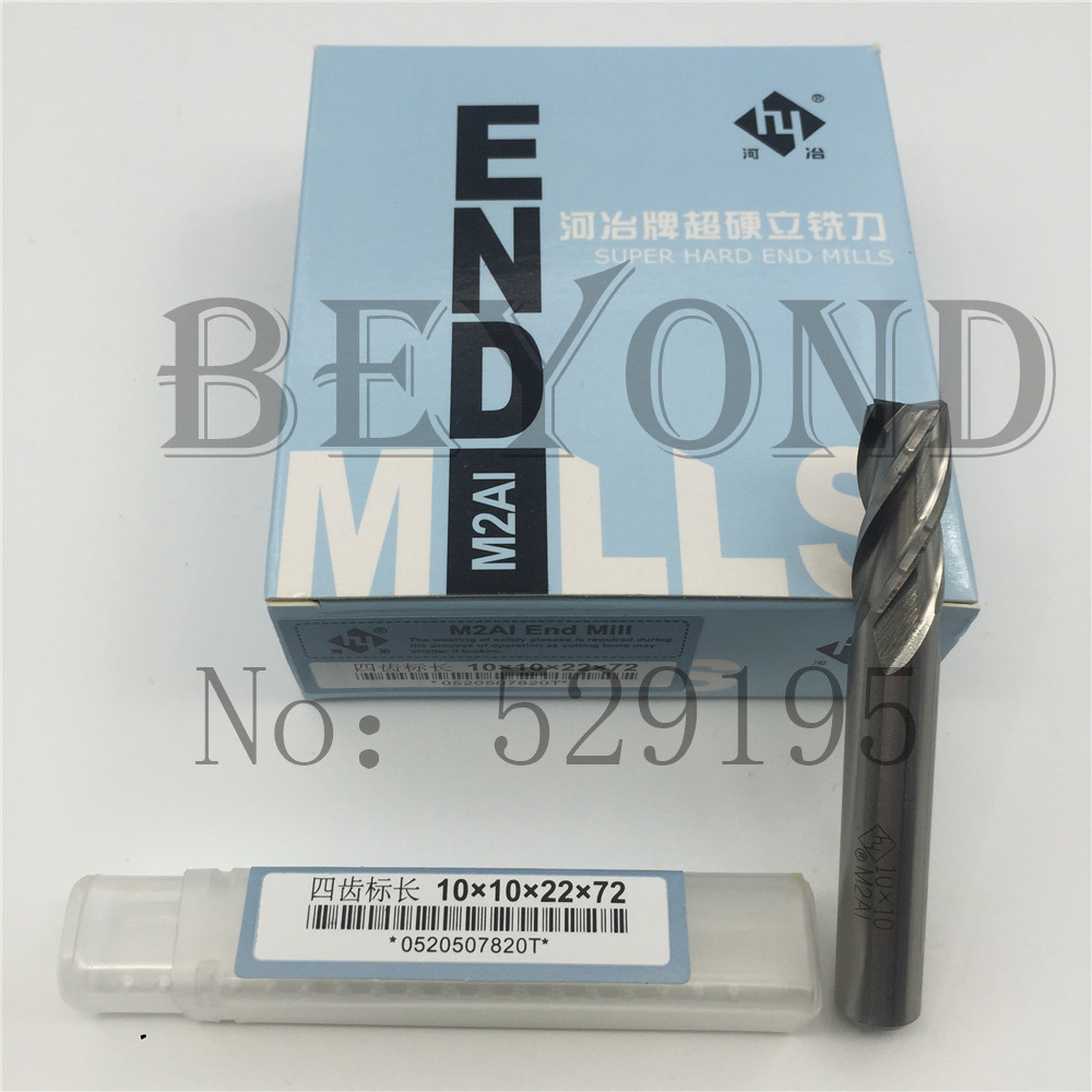 4F 10 10 22 72 high Speed Steel Square Flatted Mill 4 Flute full Grinding Type