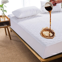 LFH 90x190cm Microfiber Ultrasonic Embossed Quilt Mattress Pad Cover Bed Protector With Elastic Sheet Protector Waterproof Cover