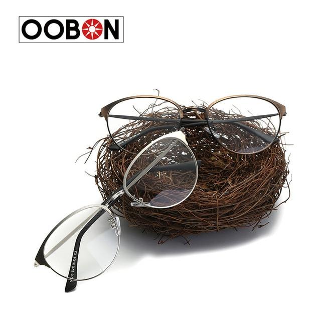 50fa897d2ed OOBON 2017 Brand Design Eyeglasses Women Glasses Clear Luxury Optical  Spectacle Eyewear Frames Men Glasses Frames