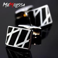 Memolissa Модные мужские официальные костюмы запонки брендовые