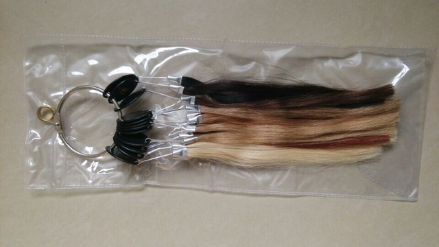 HUMAN HAIR EXTENSIONS colour ring/ color chart  12 colors for human hair extensions brazilian virgin hair clips in nail tip hair