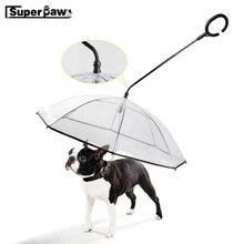 New Pet Dog Umbrella Transparent Portable Adjustable Rainy Snowing Outdoor Travel Small Cat Umbrellas with Pets Leads LSD04