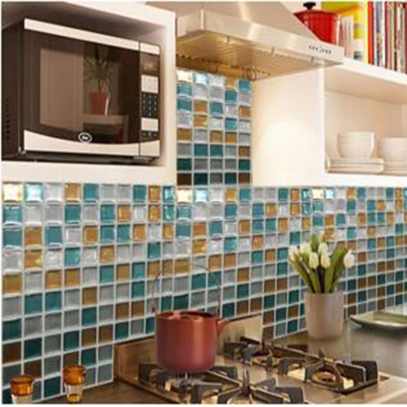 Peel And Stick Tiles Kitchen Backsplash Vinyl Wall Tiles 3D Stickers Pack  Of 10 Kitchen Wall Stickers In Wallpapers From Home Improvement On  Aliexpress.com ...