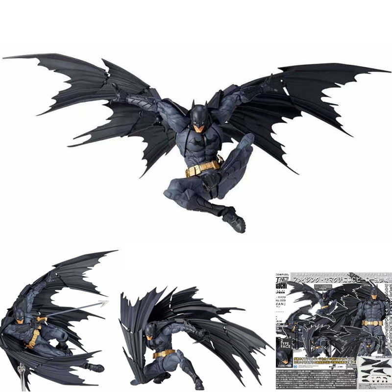 DC Batman Dark Knight Batman Revoltech NO. 009 Presentes PVC Action Figure Toy Model Collection