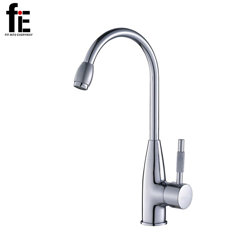 fiE 360 Degree Swivel Alloy Kitchen Mixer Cold and Hot Basin Sink Mixer Tap Kitchen Faucet with 2 pipesfiE 360 Degree Swivel Alloy Kitchen Mixer Cold and Hot Basin Sink Mixer Tap Kitchen Faucet with 2 pipes