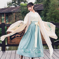 2018 winter chinese folk dance fairy costume brocade women's classical hanfu costume traditional ancient chinese clothing hanfu