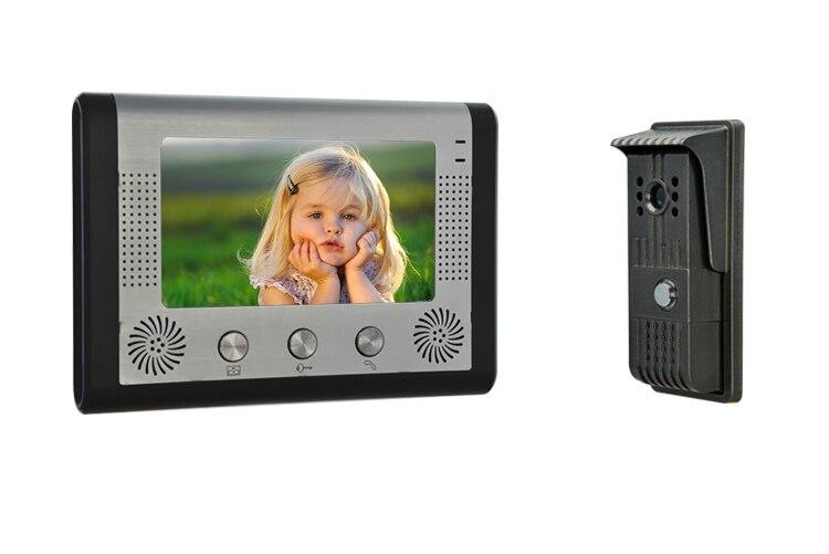 7 Inch Big LCD Display Two Way Intercom Video Door Phone
