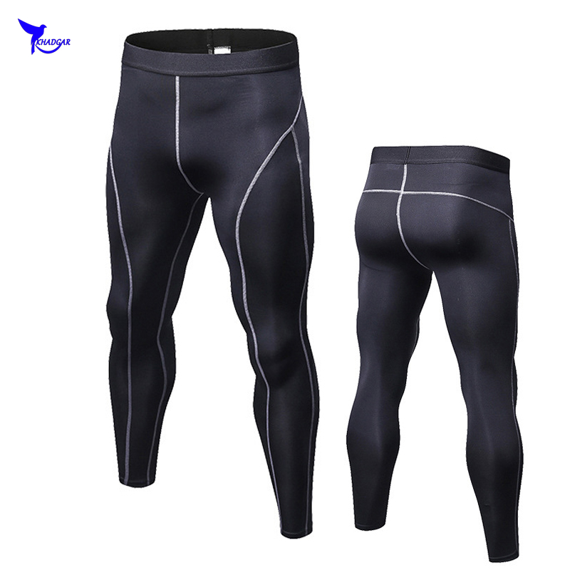 2018 New Men Compression Pants Tights Casual Bodybuilding Mens Trousers Brand Skinny Leggings Quick Dry Elasticity Fitness Pants