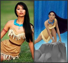 Bueaty girsl Princess Pocahontas Indian Costume Halloween Outfit Adult Women gift