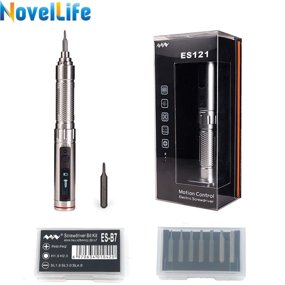 ES121V ES121 Mini Precision Cordless Electric Screwdriver Smart Motion Control Power Screwdriver 16pcs 4mm Bit Set ES120 Upgrade