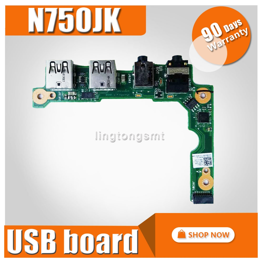 New! For ASUS N750J N750JK N750JA N750JV  Laptop Audio Usb IO Board Interface Board