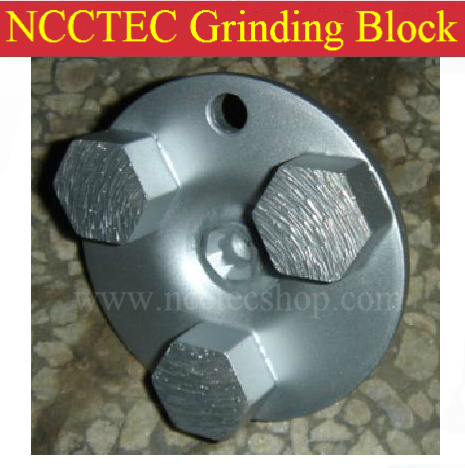 2.7'' Hexagon-segment Diamond Concrete Grinding Block Head | 68mm Abrasive Wheels For Grinding Concrete Epoxy Floor Surface