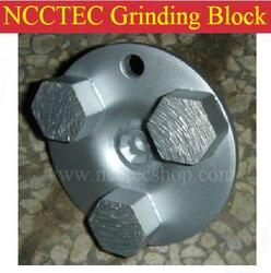2.7 Hexagon-segment Diamond Concrete grinding block head   68mm Abrasive wheels for grinding concrete epoxy floor surface