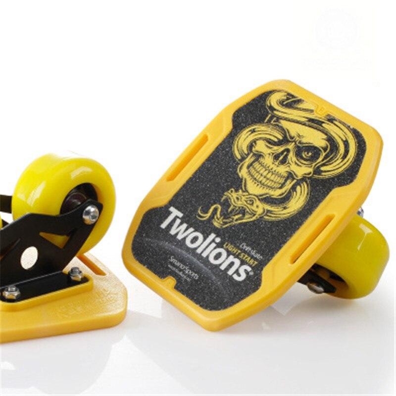 Planche de dérive pour Freeline Roller route patins de dérive antidérapant patins de plate-forme Wakeboard deux roues en polyuréthane ABS planche à roulettes cadre en acier IB102