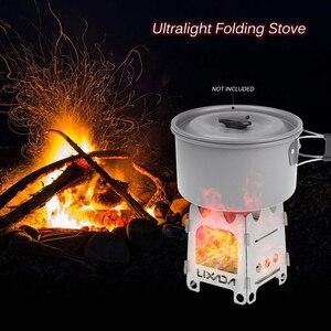 Image 5 - Lixada tytanowa zewnętrzna kuchenka kempingowa przenośna ultralekka składana kuchenka na drewno kieszonkowa kuchenka Camping wędkowanie piesze wycieczki