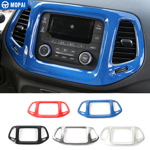 Image 1 - MOPAI 3.5 Inches Car Interior Dashboard Navigation GPS Decoration Frame Cover Stickers for Jeep Compass 2017 Up Car Styling