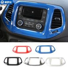 MOPAI 3.5 Pollici Car Interior Dashboard Navigazione GPS Cornice Decorazione Adesivi Copertura per Jeep Compass 2017 Up Car Styling
