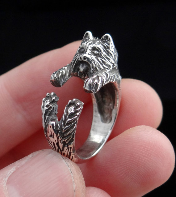 For sale: new products sell like hot cakes Yorkshire Terrier Ring,Adjustable Ring, Yorkie, Dog Jewelry, Puppy Ring,12/PCS