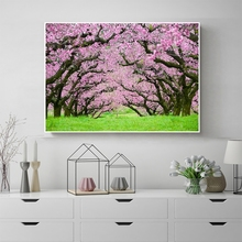 Laeacco Nordic Canvas Painting Calligraphy Garden Posters Prints Blooming Flower Tree Wall Pictures Living Room Home Decoration стоимость