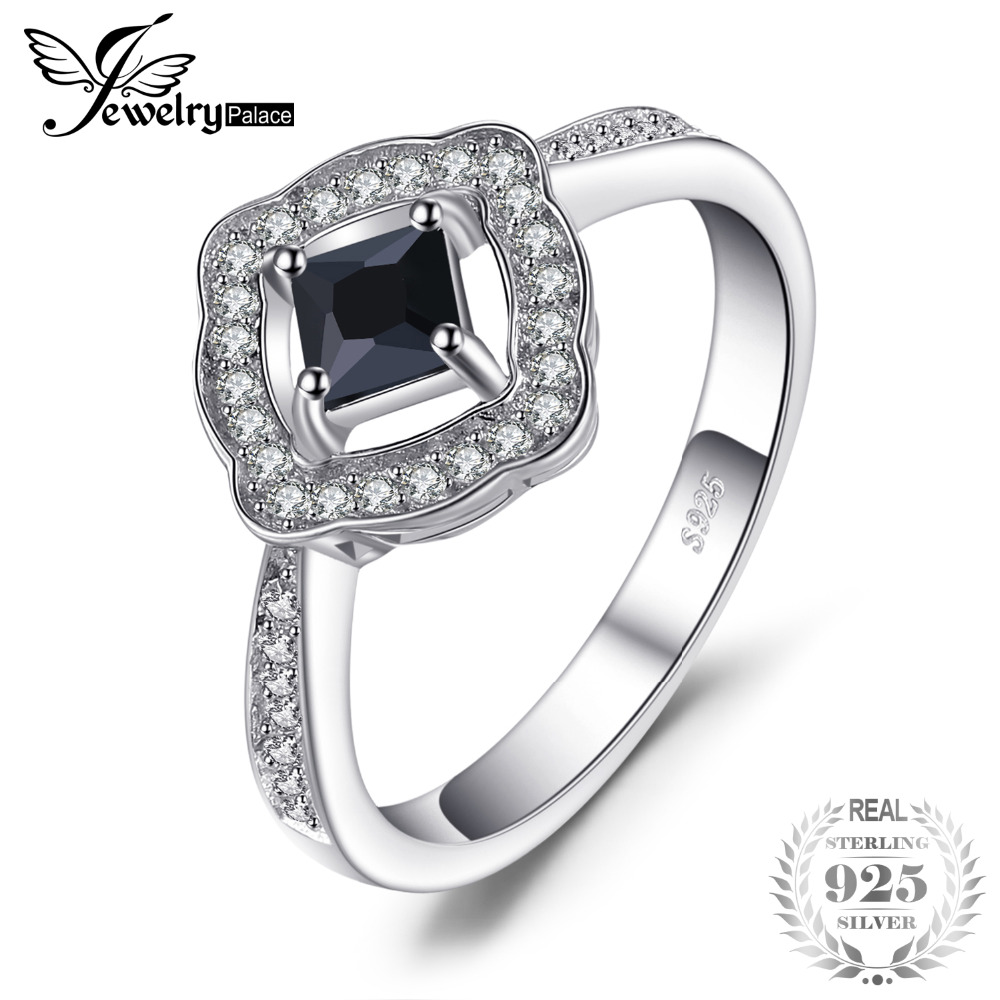 JewelryPalace Elegant 0.55ct Square-Cut Genuine Spinel Halo Ring For Women 100% Real 925 Sterling Silver Charms Fine JewelryJewelryPalace Elegant 0.55ct Square-Cut Genuine Spinel Halo Ring For Women 100% Real 925 Sterling Silver Charms Fine Jewelry