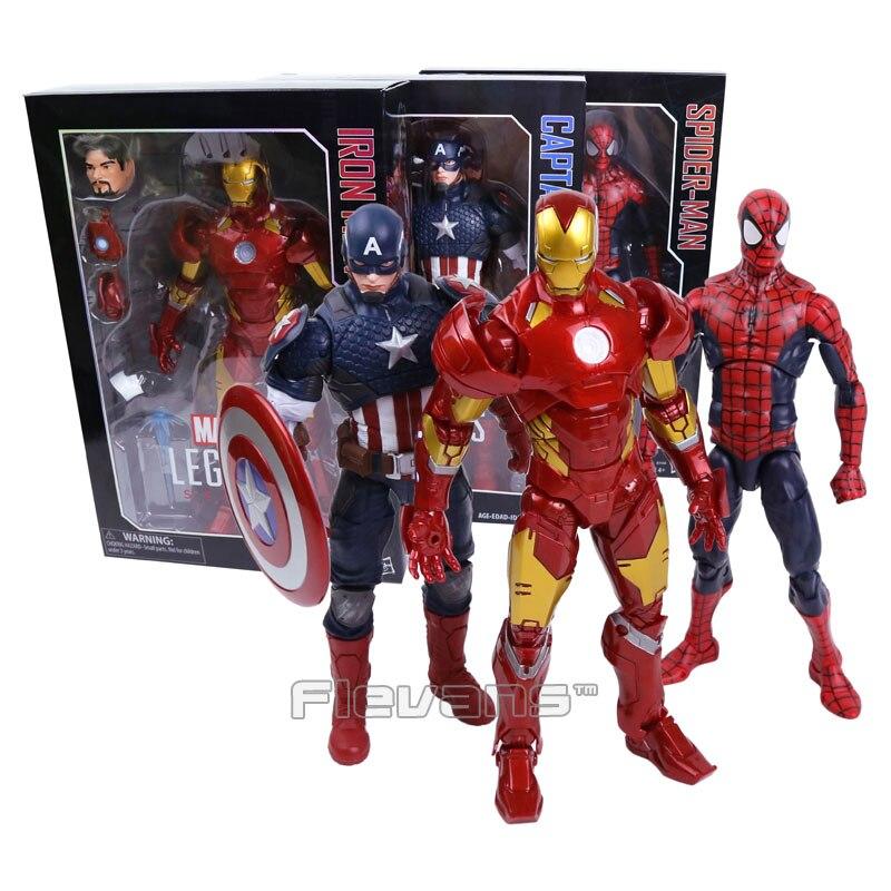 "<font><b>MARVEL</b></font> <font><b>LEGENDS</b></font> <font><b>SERIES</b></font> Iron Man / <font><b>Captain</b></font> <font><b>America</b></font> / Spiderman PVC Action Figure Collectible Model Toy 12"" 30cm"