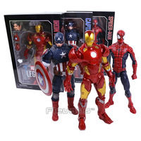 MARVEL LEGENDS SERIES Iron Man / Captain America / Spiderman PVC Action Figure Collectible Model Toy 12