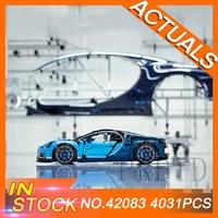Техническая серия супер автомобиль bugatii строительные блоки 42083 LegoINGs Technic Развивающие игрушки DIY для детей Подарки Модель