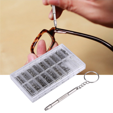 1000pcs Stainless Steel Micro Glasses Sunglass Watch Spectacles Phone Tablet Screws Nuts Screwdriver Repair Tool Set Kits