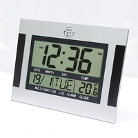 Big Number Large LCD Digital Wall Clock with Temperature Table Watch Electronic Desk Bedside Alarm Clock