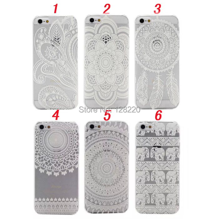 Plastic Case Cover Henna White Floral Paisley Flower Mandala Custom iphone 4 4s 5 5s 5c 6 4.7'' 6plus 5.5'' - Special Zone Trading Co.,Ltd store