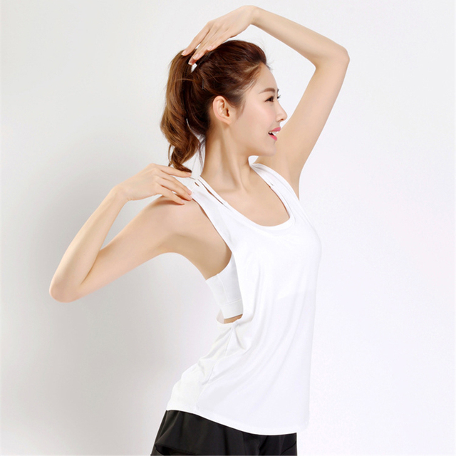 af2191cc6761c Summer Sports Tops Gym Women Loose Quick Dry Sport Tank Top Womens  Activewear Tops Sexy Sleeveless