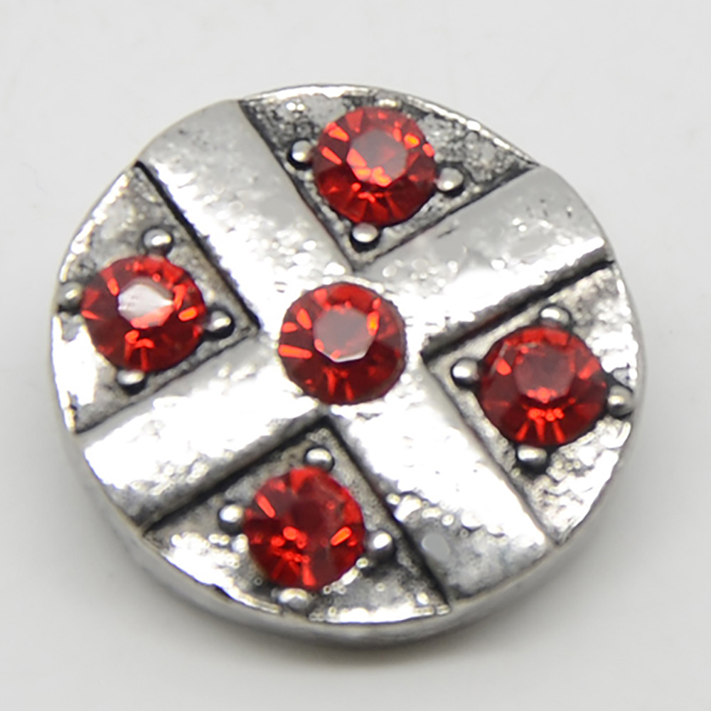 Wholesale Crystal Metal Snap Button Beads jewlery For 18mm Snap Button Bracelet