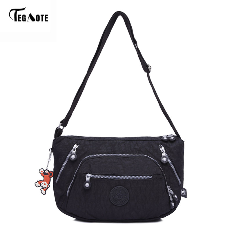 TEGAOTE Female Bag Beach Shoulder Bags Handbags Women Famous Brands Bolsa Feminina Purse Nylon Crossbody Bag 10 Color Sac A Main famous brand women leather handbags ladies messenger bags female shoulder crossbody bag bolsa feminina sac a main