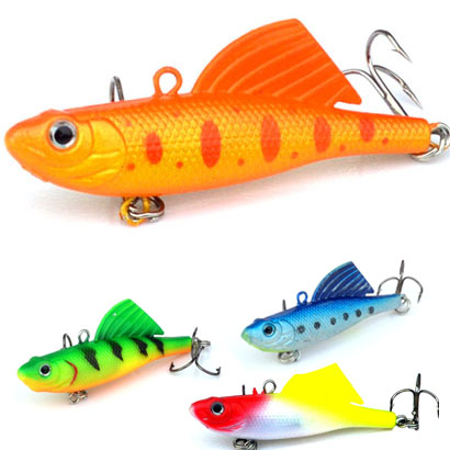 1Pcs 16.5g 6.5cm VIB Fishing Soft Silicone Lead Lure Bait Wobbler Artificial Sinking Soft Bait 3D eye Winter Sea Fishing-in Fishing Lures from Sports & Entertainment
