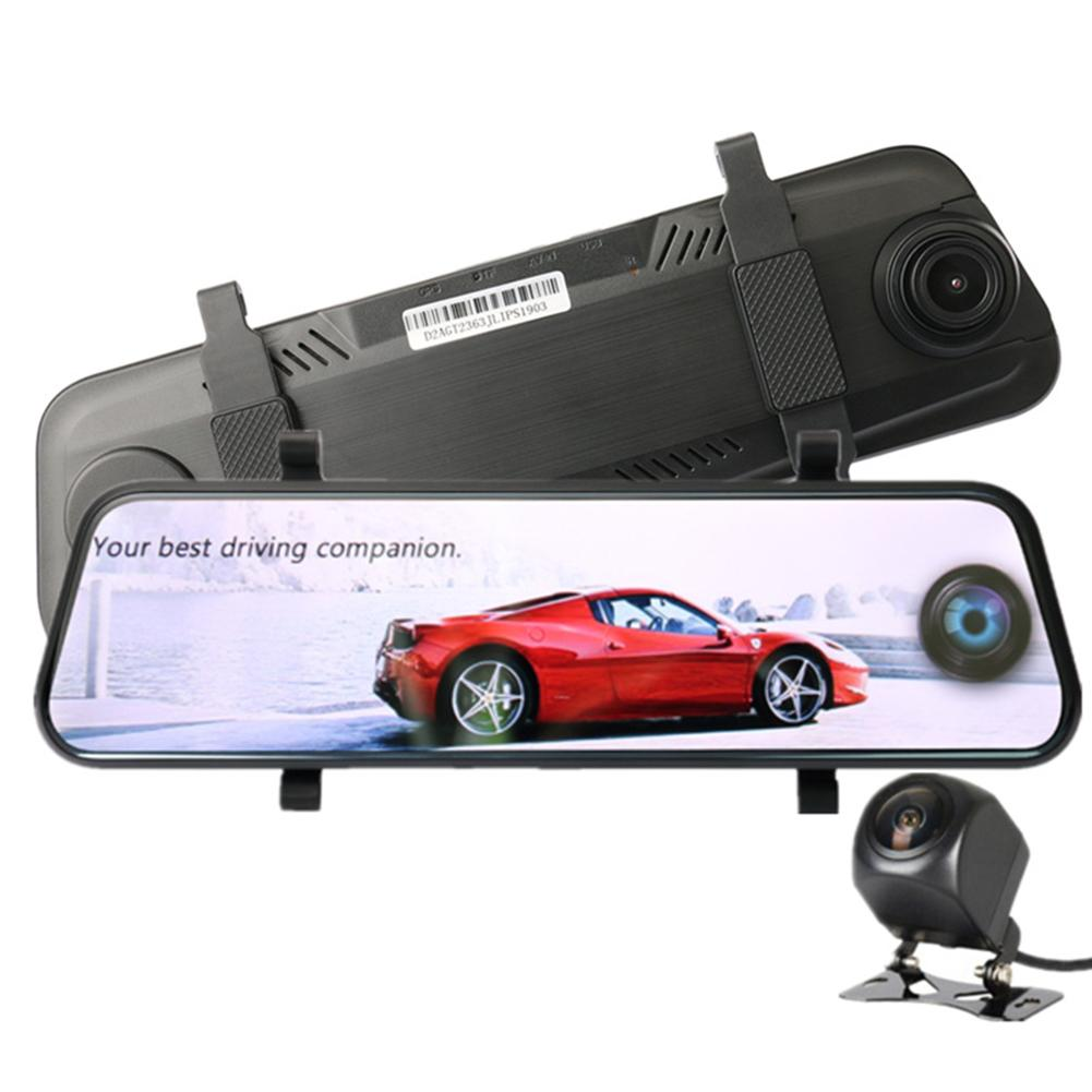DVR Camera Digital-Video-Recorder Car-Rearview-Mirror Dual-Lens 10inch Full-Hd 1080P