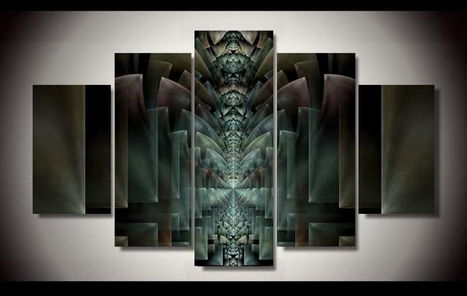 7dabb5fbb39f HD печати 5 шт. холсте Абстрактная живопись современный домашний Декор  стены искусстве Гостиная Декор печати живопись на холсте  pt0375