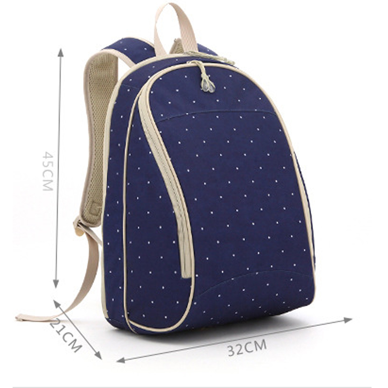 Brand large capacity mommy bag fashion mother baby bag travel diaper backpack for nappies backpack double