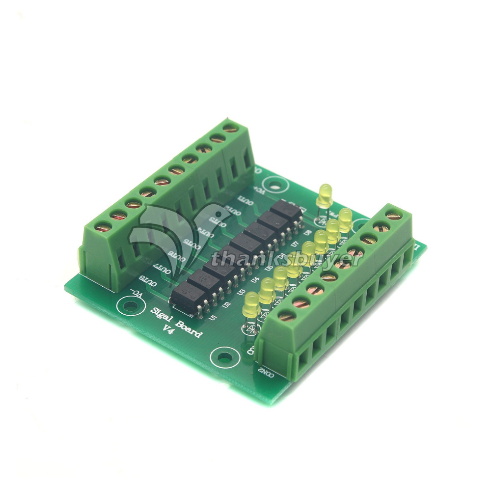 цена на 12V/24V Input 5V Output Optocoupler Isolation Control Panel 8 Channel Isolated Input Signal Board Signal Conversion Module
