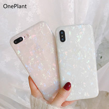 Luxury Glitter Phone Case For iPhone 7 8 Plus Dream Shell Pattern Cases XR XS Max 6 6S Soft TPU Silicone Cover