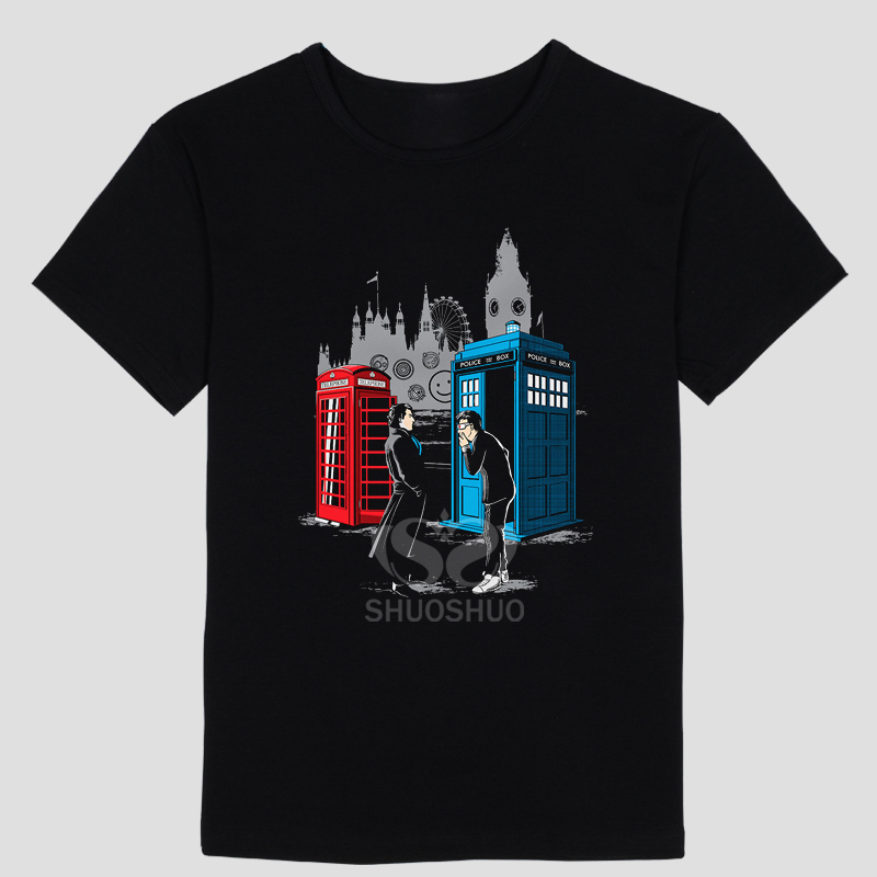 Hot Sale Men Doctor Who T Shirt White Short Sleeve O-neck Dr Who T-shirt Casual Style Brand Print Tshirt