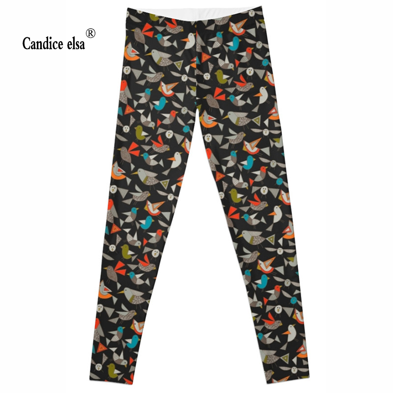 wholesales New Fashion Women Clothes Hot Digital Print Pants Leggings Skinny leggings of Origami bird hot sale