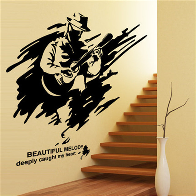 Wall stickers stickers abstract street guitar music training ...