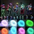 1 pc 3 M Flexível Luz Neon Fio EL Tubo Corda Alimentado Por Bateria Flexível da Festa de Casamento Decoração Do Carro Com Controlador