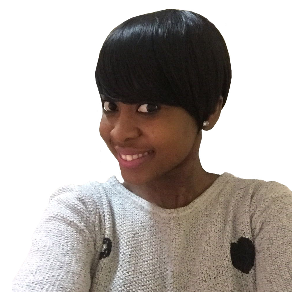 Amir synthetic short wigs for black women black straight hair wig with bangs Full African American Short Hair