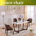 U-BEST Благодати Твердая древесина обеденный стул Кофе простой современный стул отдыха